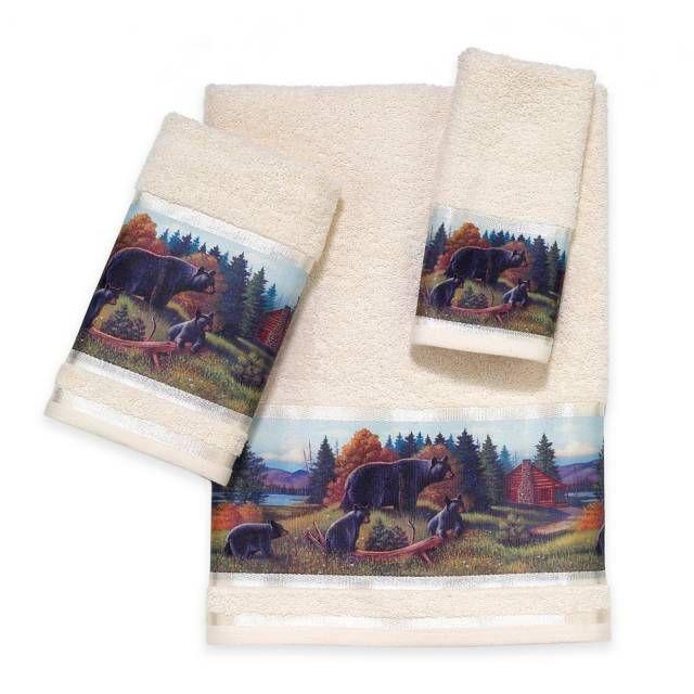 product image for Avanti Black Bear Lodge Bath Towel Collection
