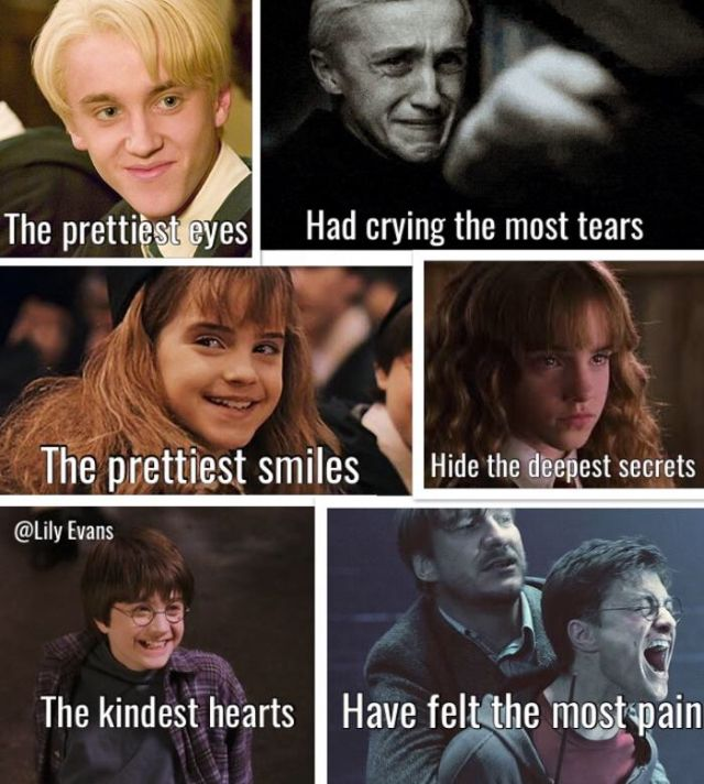 draco does have the prettiest eyes for sure harry potter puns