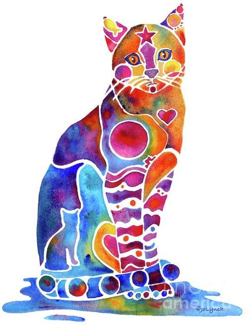 cat watercolor, I would so frame this.