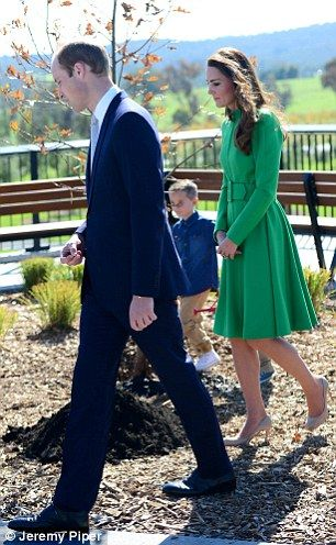 Prince William, Duke of Cambridge and Catherine, Duchess of Cambridge visit the National Arboretum, 24.04.14 in Canberra, Australia.