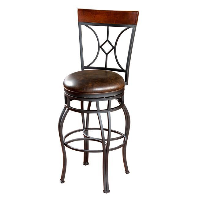 Dress up a counter space or a bar area with this exquisite swivel bar stool