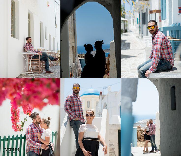 Greek island pre wedding photoshooting...by Leonn