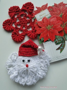 Papai Noel Carinha  Crochet de Natal