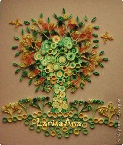 67 best images about quilled trees leaves on pinterest for Paper quilling work