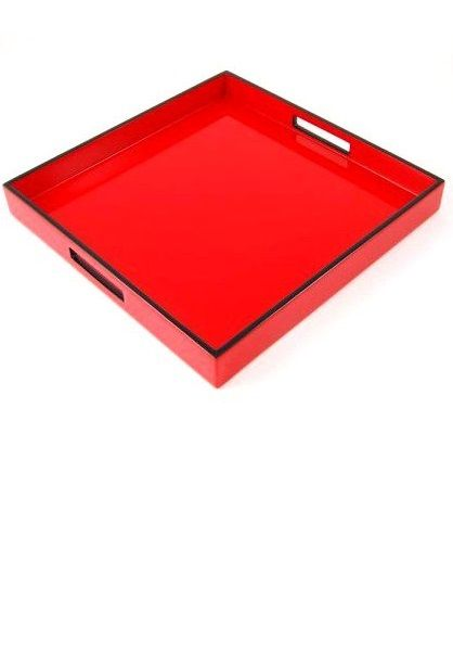 Red Trays | Red Coffee Table Tray | Red Coffee Table Trays | Red Ottoman  Trays