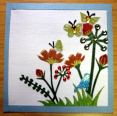 Die cut card with bling