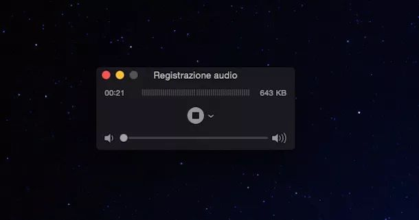 Screenshot che mostra come registrare telefonate iPhone con QuickTime player