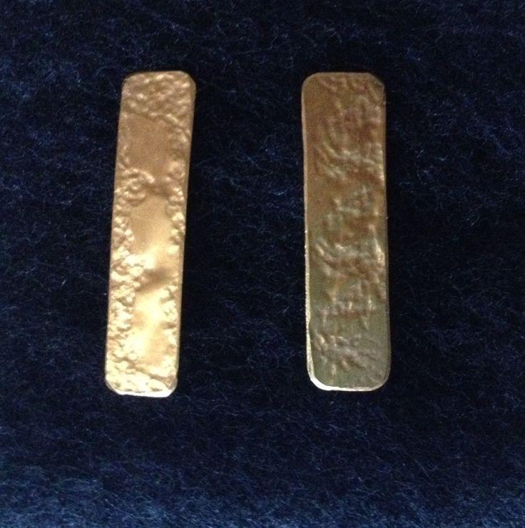 Aretas Lingote - baño en oro $30000