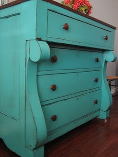 Gorgeous deep aqua or teal chest of drawers