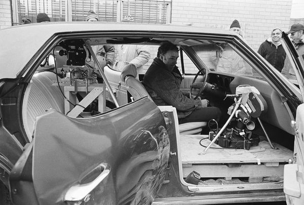 "The rig setup in Gene Hackman's car before the famous car chase in ""The French Connection."""