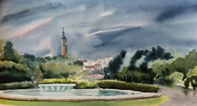 9 best acuarelas images on pinterest watercolors - Pintores zaragoza ...