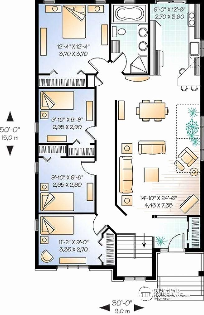 3 Bedroom Tiny House Plans Best Of Best 25 3 Bedroom House Ideas On Pinterest House Layout Plans House Plans Bungalow House Plans