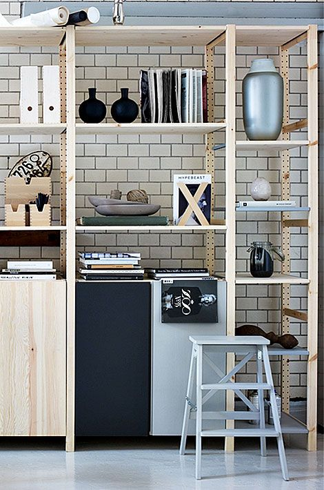 best 25 ikea ivar shelves ideas on pinterest ivar ikea hack ikea storage bins and pantry. Black Bedroom Furniture Sets. Home Design Ideas