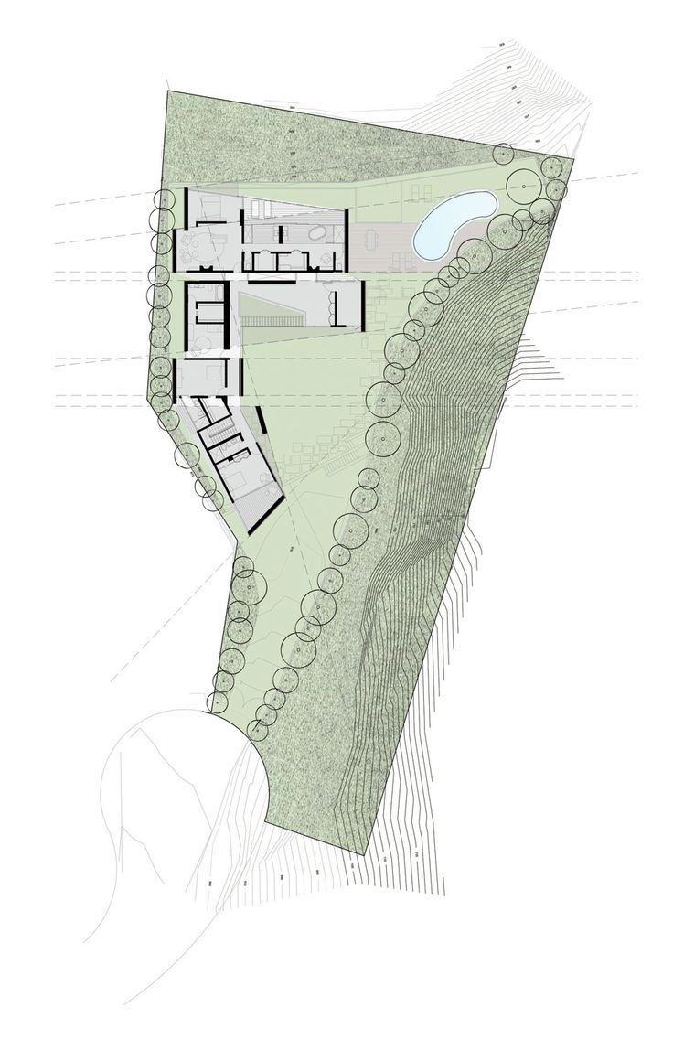 Image 1 of 11 from gallery of Hollywood House / wHY Architecture. second floor plan