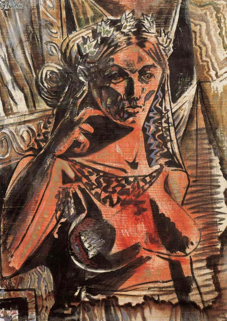 Woman Thinking 1941, Tempera on paper National Gallery Of Greece