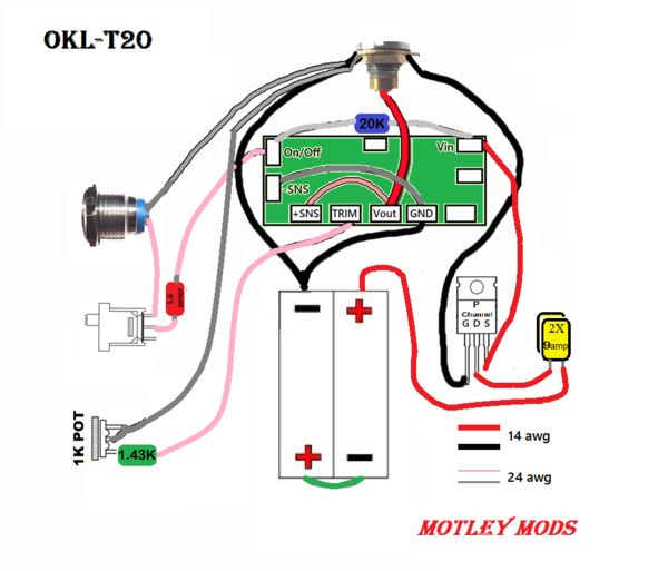 Motley Mods Box Mod Wiring Diagrams,Led Button,Switch Parallel Series,Led Angel Eye Button,wiring pwm box mod,okr t10,okl t20,box mod wire diagram,mosfet box mod