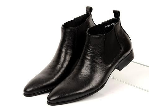 [EBay] Grimentin Fashion Mens Ankle Boots Genuine Leather Comfortable Soft Brown Black Wedding Men Shoes