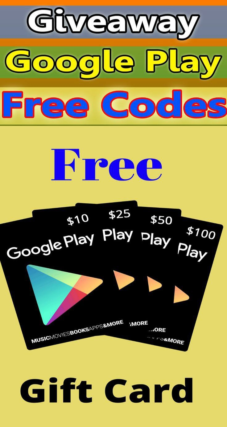 Free Google Play Gift Card Giveaway 2020 Google Play Gift Card Netflix Gift Card Paypal Gift Card