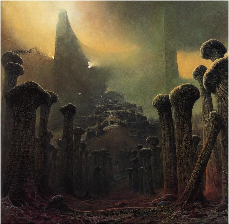 A great fantasy artist Zdzislaw Beksinski: Paintings - page 2