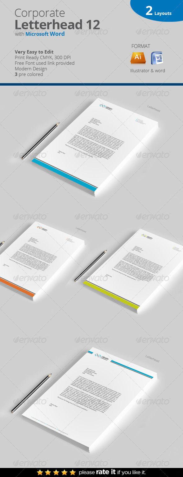 107 best letterhead pad office documents images on pinterest letterhead spiritdancerdesigns Images