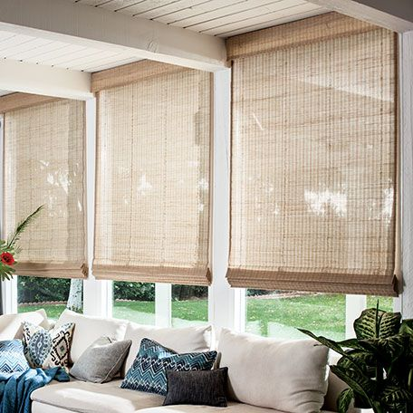 Best 25 woven shades ideas on pinterest woven blinds for Natural woven flat fold shades