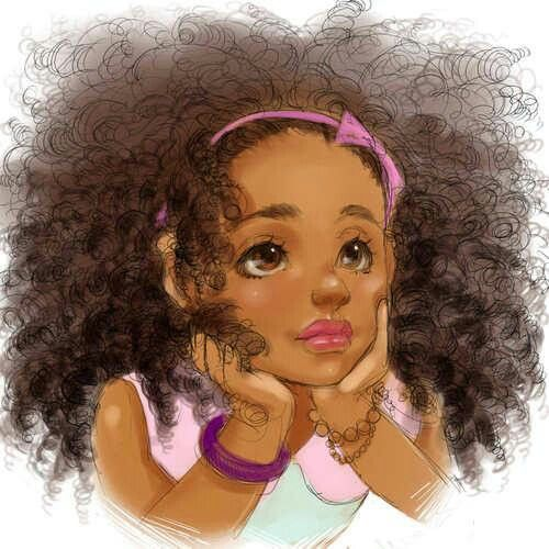 Girl curly hair drawingcurly hair cartoonblack
