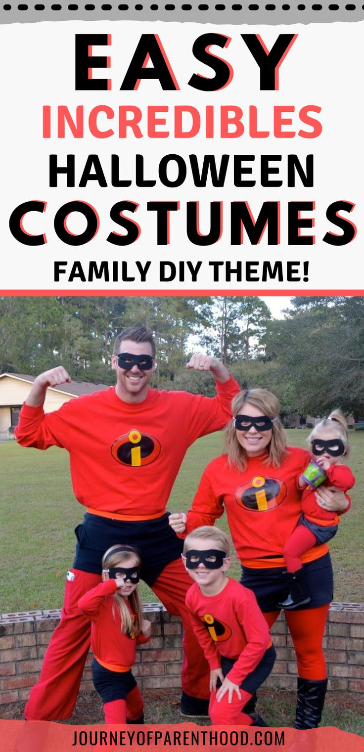 Easy Incredibles Halloween Costumes Family DIY Disney