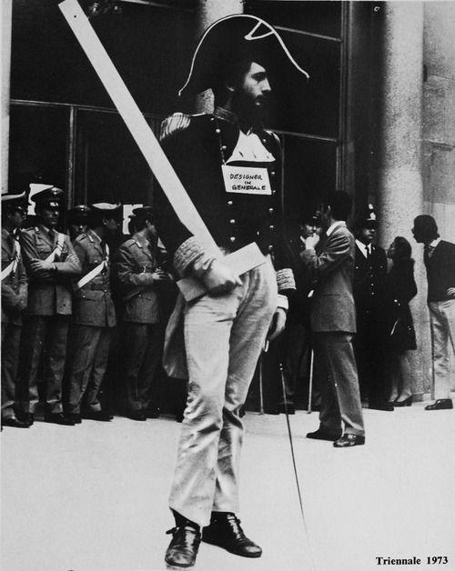 """Michele de Lucchi, triennale 1973.  Sono un """"designer in generale"""" #design #triennale #delucchi #1973"""