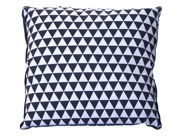 Coussin imprimé géométrique black&white! Shopping mykaz.fr