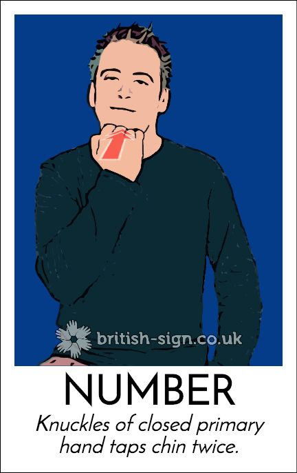 Today's #BritishSignLanguage (#BSL) sign is: NUMBER