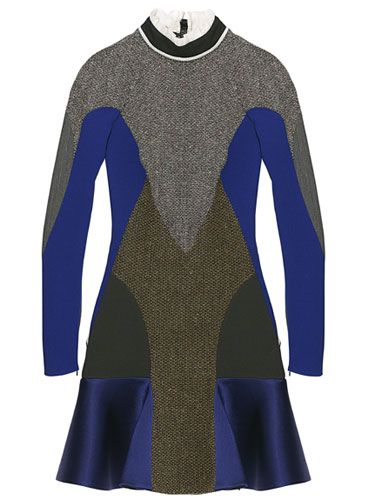 Stella McCartney Tweed/Silk Dress	  		  		  		Fall Clothes and Accessories 2012 - New Fall Looks 2012  		  		 - Marie Claire: Fall Clothing, Fashion Advice, Mccartney Dresses, Dresses Fall, Accessories 2012, Fashion Inspiration, Fashion Trends, Inspiration Dresses, Athletic Fashion