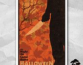 Halloween Movie 1978 12 x 18 Inch Print - Michael Myers Art