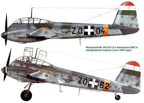 Messerschmitt Me 210Са-1 Hungarian Air Force 1944