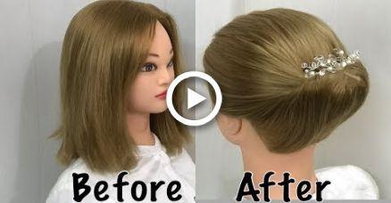 Beautiful Bun for Short Hair : Easy Summer Hairstyles,  #beautiful #hairstyles #…