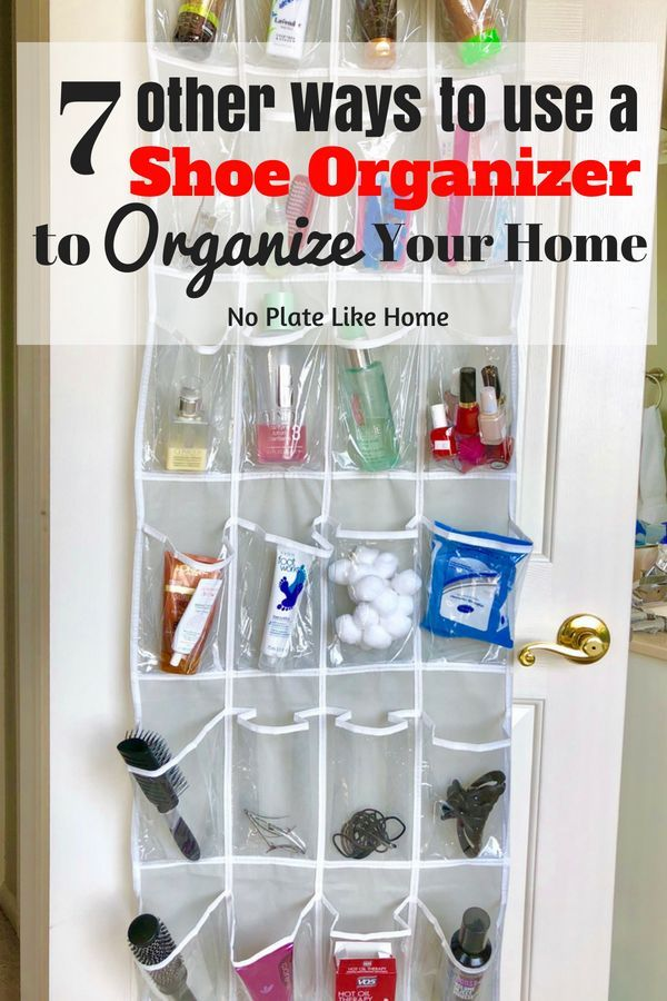 7 Other Ways To Use A Shoe Organizer With Images Bathroom