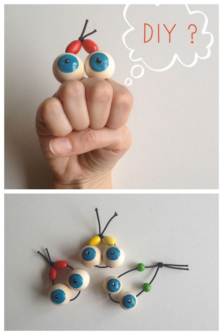 DIY Wooden Bead Googly Eye Hand Puppet Tutorial from Handmade Charlotte here.There is a really clever easy way to paint the perfect circles at the link. For more googly eyee DIYs go here:unicornhatparty.com/tagged/googly-eyes