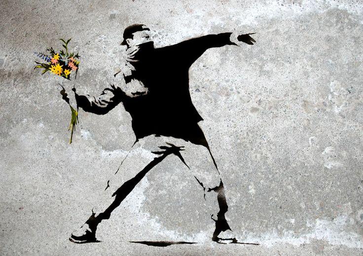 Flower Thrower, Banksy
