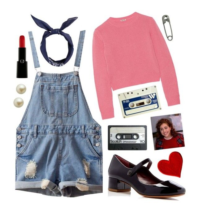 """Clueless: Tai Frasier"" by wilmaliljeblad ❤ liked on Polyvore featuring Murphy, Miu Miu, Isadora, Marc Jacobs, Armani Beauty, Carolee, 90s, clueless, cherhorowitz and Tai"