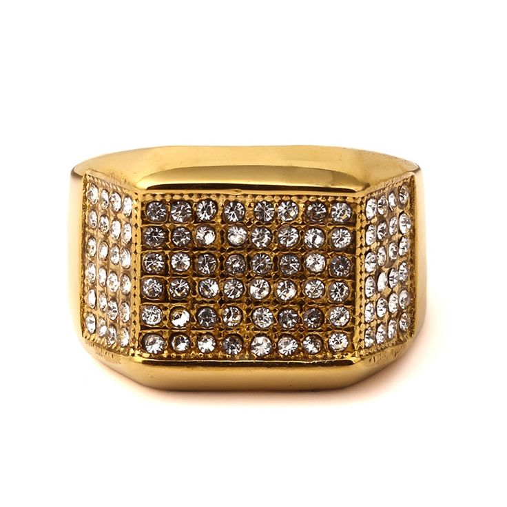 >> Click to Buy << 2016 USA Fashion jewelry stainless steel men wedding ring  cubic zirconia ring punk hip hop rings cool man #Affiliate