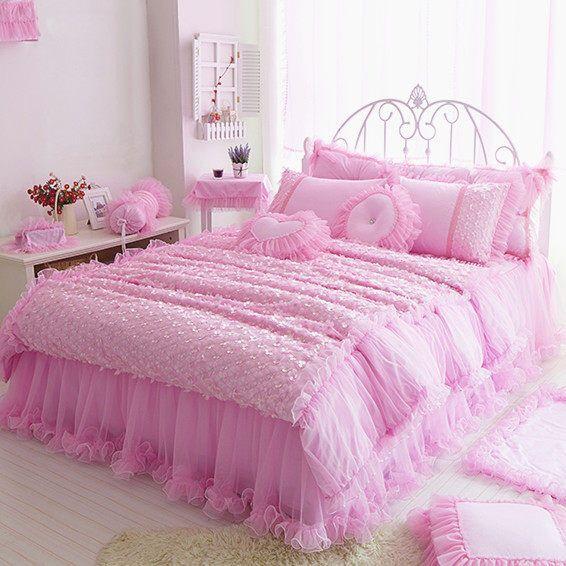 97 best Lace Elegant bedding set images on Pinterest King