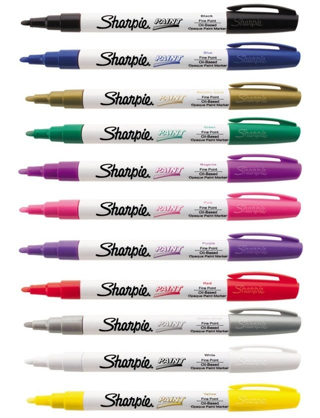 "Sharpie Paint Marker Fine Tip Pens Oil Based Most Surfaces Indoor Outdoor | eBay  To write ""unless"" on black stones.  Check Michaels for materials :)"