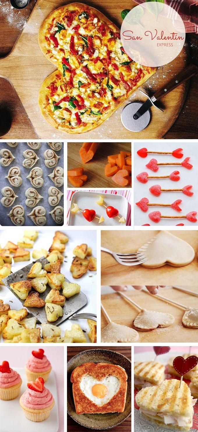 Diez ideas para comerte San Valentín, rápidas, sencillas y resultonas. Enamorados o no... ¡esto hay que celebrarlo!