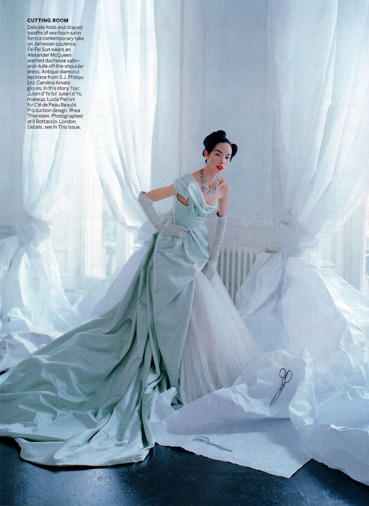 Fei Fei Sun in Jamesian Alexander McQueen, photographed by Tim Walker for Vogue US, May 2014