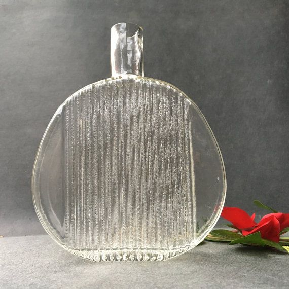 Serious glass  glass pitcher  midcentury vase by CollectionIt