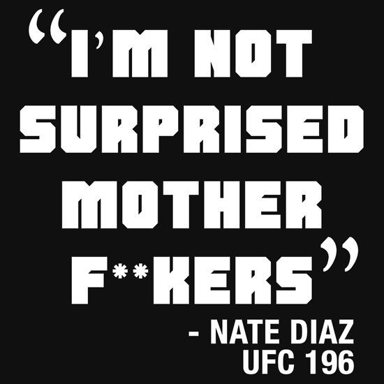 Nate Diaz - UFC196 Clean