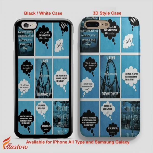 cool John Green Fault in Our Stars Quote Collage iPhone 7-7 Plus Case, iPhone 6-6S Plus, iPhone 5 5S SE, Samsung Galaxy S8 S7 S6 Cases and Other