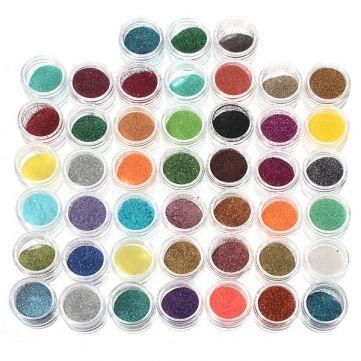 Nail Polish Glitter Art Design Powder Set 45