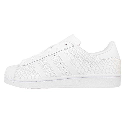 Adidas Superstar Womens Suede Trainers White 7.5 US - http://buyonlinemakeup.com/adidas/adidas-superstar-womens-suede-trainers-white-7-5