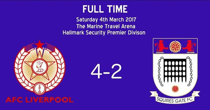 Great day at the office for AFC Liverpool. Goals from @emini360 (2) Mikey White and @jackleamey11 giving us a 4-2 win over @squiresgatefc. Up the reds