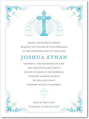 37 Best Confirmation Invitations Images On Pinterest Cards 2nd